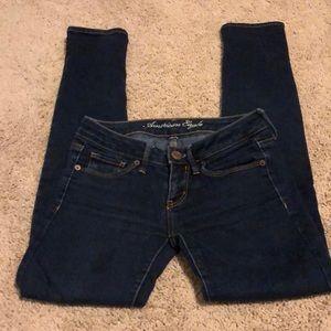 AE Extra Dark Skinny Jeans